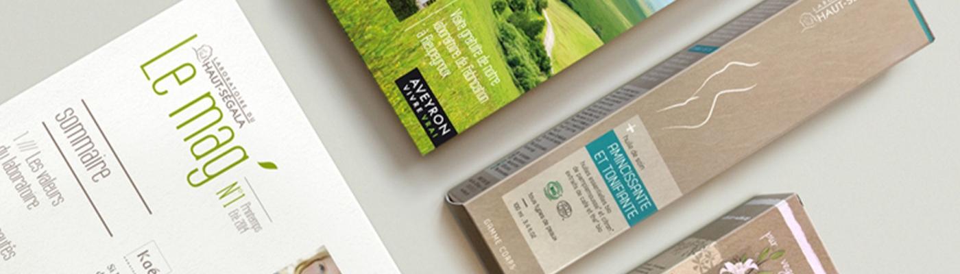 Packaging Dépliant gamme Laboratoire du haut segala