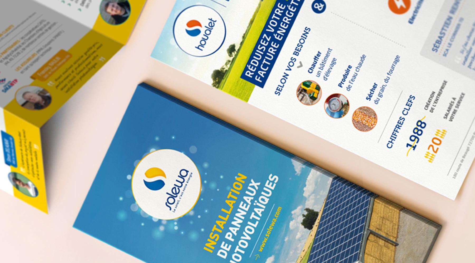 Edition plaquette entreprise dépliant flyer affiche Solewa